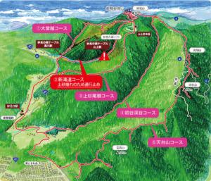 妙見山ハイキングコース図