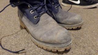 私のスエード靴