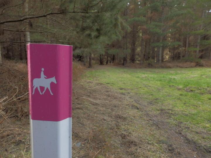 馬用ハイキングコース標識