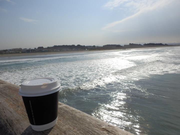 桟橋とコーヒー
